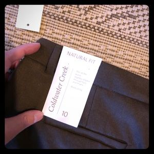 NWT Coldwater Creek brown trousers in Size 10